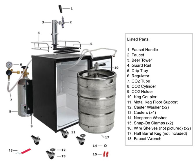 general kegerator assembly guide edgestar rh support edgestar com