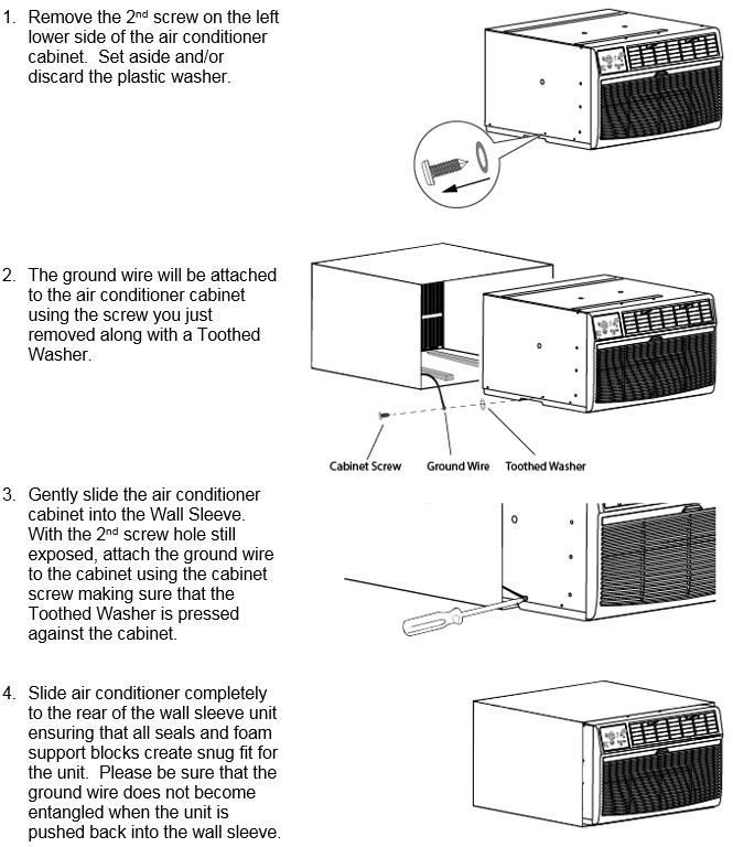 How do I install my Through The Wall Air Conditioner ? – EdgeStar