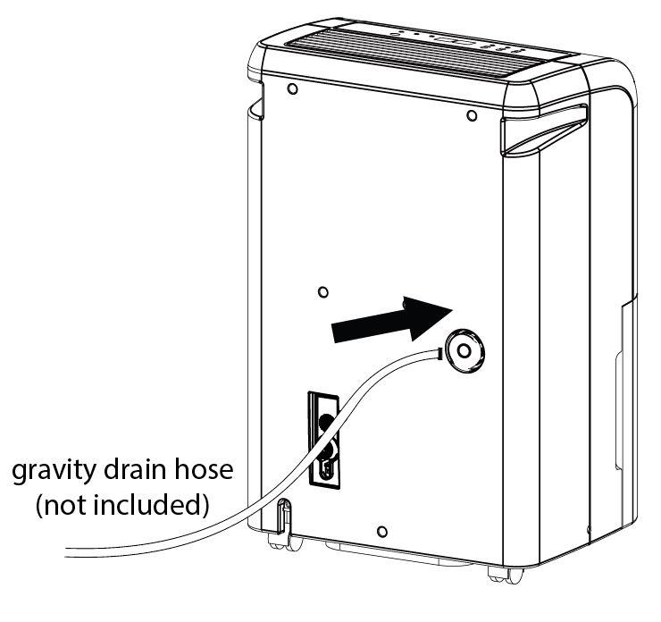 Can I use a drain hose to drain my dehumidifier? – EdgeStar